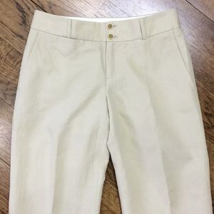 Banana Republic Pants - Banana Republic Martin Fit Linen Trouser Tan Nude